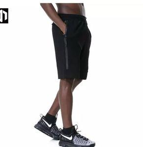 Pantaloncini sportivi Tech in pile all'ingrosso Tasca con zip Tasca sportiva Pantaloni casual Grigio scuro S-XL