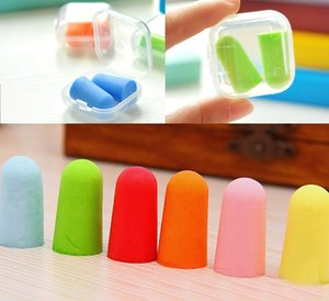 New Sale 100Pcs lot bullet shape Foam Sponge Earplug Ear Plug Keeper Protector Travel Sleep Noise Reducer Free shipping