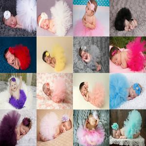 Vestido con tutú del bebé recién nacido con la venda de la flor del bebé de Ropa accesorios de fotos en color 16 linda del niño falda de tul 17101304
