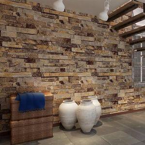Vintage Brick Wallpaper para paredes 3 d en rollos Living room Desktop Mural 3D fondos de pantalla en la pared papel de parede