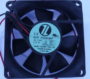 Nidec 8025 24V 0.17A DT2408UBNP soğutma fanı 2 tele