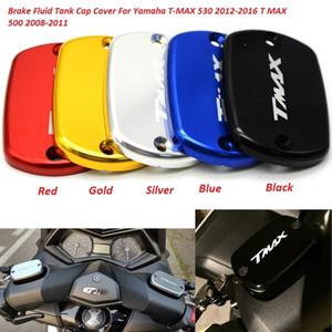 2pcs / set CNC En Aluminium Moto Liquide De Frein Réservoir De Carburant Réservoir Couvercle De Capot Pour YAMAHA TMAX 500 TMax 530