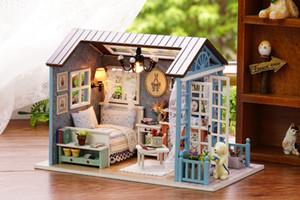 Regalos de Navidad Casa de muñecas en miniatura Kits de construcción modelo casa de boneca Muebles de madera Juguetes Regalos de cumpleaños-Forest Times