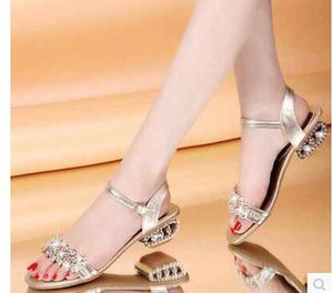 Bling Lady Flat Sandals Strass Flats Open Toe the Summer Shoes da donna sandali gladiatore sandali firmati da donna