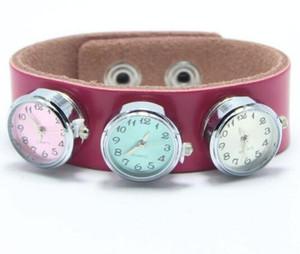 Bunte Runde Glas Uhr 18mm Ingwer Druckknöpfe für Noosa Charms Fit Snap Armband Frauen Armreifen Modeschmuck Komponenten Heißer Verkauf