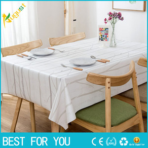 Alta calidad estilo europeo PVC impermeable a prueba de aceite mantel elegante cubierta de mesa para la decoración del hogar