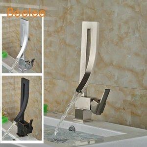 도매 - Beelee BL6565N 클래식 폭포 화장실 수도꼭지 싱글 핸들 믹서 데크는 선택을위한 분지 싱크 수도꼭지 탭 3 모델을 탑재