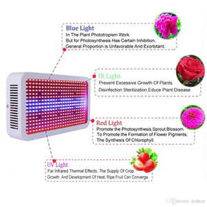 Full Spectrum 400W LED Grow Light Red + Blue + White + Warm + UV + IR AC 85 ~ 265V SMD5730 Led Lámparas de plantas LED Aquarium Lamps