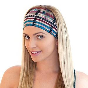 Böhmen Stirnbänder 16 Farben Frauen Sport Yoga Stirnbänder Dame Waschen Gesicht Stretch Wide Head Wrap Floral Haarschmuck