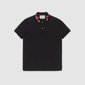 Nouveautés Arrivées 2019 Vêtements de marque Hommes Designer Courte Polo Coton Mode Polo avec Kingsnake Broderie Camisetas Camisetas Masculinas