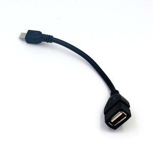 Venta al por mayor usb hembra a micro usb adaptador otg cable otg cable micro v8 otg cable envío gratis