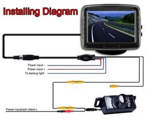 """Display LCD da 3,5 """"TFT LCD per auto con ingresso video a 2 vie per auto"""