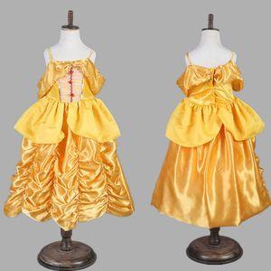 Çocuk Cosplay Prenses Elbiseler Belle Gazlı Bez Dantel Uyku Güzellik Elbise Yeni 2017 Kız Parti Pageant Topu Paskalya Kostüm Elbise Hediyeler PX-A20