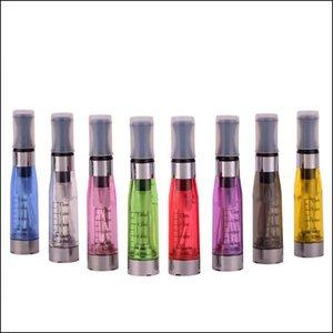 CE4 Atomizer CE4 Clearomizer 1.6 ml 2.4ohm Buhar tankı Elektronik Sigara e-çiğ pil için 8 renkler 4 Fitil CE4 + CE5