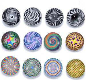 50pc / lot 핫 판매 새로운 디자인 믹스 컬러 비전 패턴 18mm 유리 sanp 버튼 noosa 버튼 매력 DIY 쥬얼리 액세서리 팔찌 펜던트에 맞게
