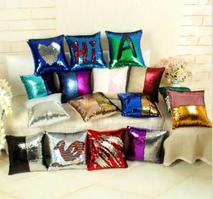 DIY Glitter Sequins Atmak Yastık Kılıfı 22 Tasarımlar Renk Değiştirme Ölçeği Sarılma Ev Yastık Dekoratif Mermaid Yastık Kapak B507