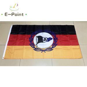 Alman DSC Arminia Bielefeld FC 3 * 5ft (90 cm * 150 cm) Polyester bayrak Afiş dekorasyon uçan ev bahçe bayrağı Şenlikli hediyeler