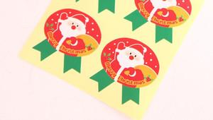 Frete grátis new arrival natal papai noel rena medalha decoração presente embalagem adesivo saco de bolinho de doces caixa de bolo paster
