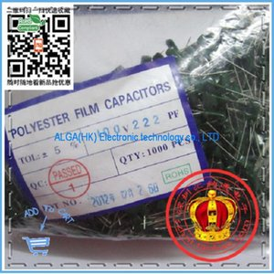 Wholesale- Free shipping .Polyester capacitors 2A222J 100V2200PF 2.2NF Polyester capacito