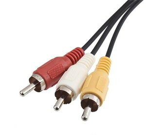 180 cm AV TV RCA cabo de cabo de vídeo para jogo cubo / para SNES GameCube / para Nintendo para N64 64 atacado loja 500ps / lote