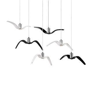 Criativo Luzes Pingente Personalidade Gaivota Luminária Quarto Lustre de iluminação Loft / Bar / Sala de Jantar luminária de suspensão