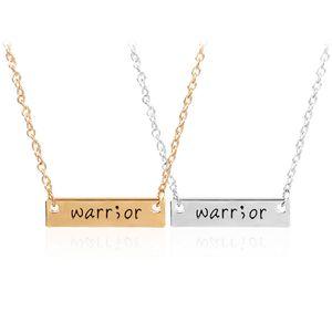 Cancer Survivor Suicídio Consciência e Prevenção Inspirado Handstamped Warrior Bar Vara Semicolon Amuleto Saudável declaração Colar