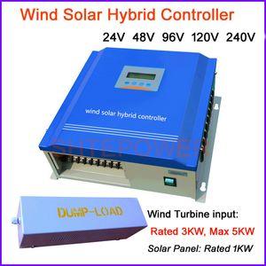 3000W PWM 3kw Ветер Солнечный гибридный контроллер заряда, 24 В 48 В 96 В 120 В, управляет питанием от ветротурбины и панели солнечных батарей в батарею