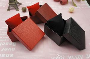 Caja de reloj con almohada Joyería de lujo Cajas para pulsera Anklet Estampación de cajas de exhibición Caja de almacenamiento para baratijas Cajas de reloj de pulsera