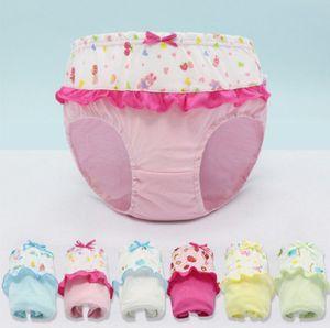Crianças calcinha bowknot dos desenhos animados crianças lacework calções cuecas do bebê meninas Briefs cuecas Crianças Bonitos de algodão Cuecas