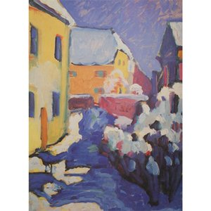 High quality Wassily Kandinsky arts Cemetary And Vicarage In Kochel hand painted Oil paintings reproduction Large canvas