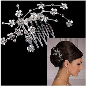 High quality Rhinestone Crystal Bridal Hair Combs Hair Jewelry Wedding Hair Accessories for party Free Shipping