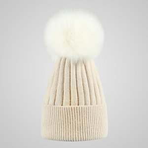 حار بيع جديد النساء الرجال الثعلب الصوف الكرة قبعة الشتاء مخروط الشعر قبعات القبعات قبعة كاب الأزياء قبعات الكروشيه قبعات