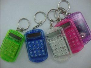Casuale Cute Fashion Mini misto portachiavi Pocket Calculator chiave catena Colori Dvcox
