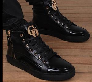 Fret gratuit 2018 automne hiver nouveau plus chaussures de velours haute chaussures en cuir pour hommes bottes loisirs chaussures danse