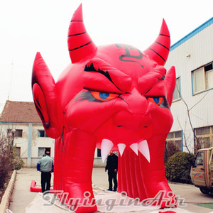 Arcada inflável do diabo do túnel de 5m Giant Halloween para a decoração da entrada