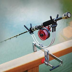 Porta canna da pesca telescopico portatile con supporto per canna da pesca con molo a ponte universale regolabile