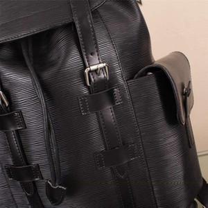 Damier Backpack Toile Macassar 크리스토퍼 PM 맨 배낭 진짜 가죽 브랜드 맨 배낭