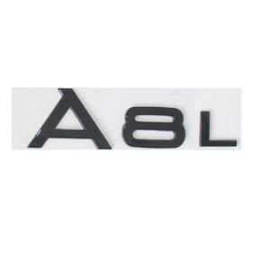 Gloss Black Trunk Rear Number Letters Words Badge Emblem Sticker per Audi A8 A8L
