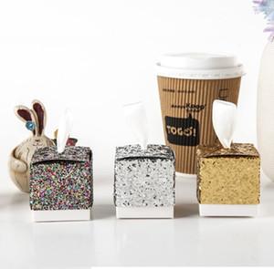 """Favores y regalos Cajas de dulces """"Todo lo que brilla"""" Gold Glitter Favor de Favor de la caja para el envío gratuito de la fiesta de bodas."""