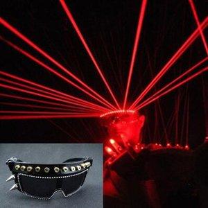 Излучающий принц лазерные танцевальные солнцезащитные очки ночной клуб лазерные очки вечеринки вечерние певцы DJ светлый этап выполнить светодиодные очки бар GL лазер GL EJGL