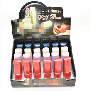 a forma di rossetto Stash Security Diversion nascondi Tasca segreta Cassa di pillole Custodia di gioielli Contenitore scatola caso placstic