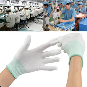 12pairs مكافحة ساكنة ESD الآمن العالمي قفازات قفازات العمل الإلكترونية الكمبيوتر عدم الانزلاق لحماية الإصبع