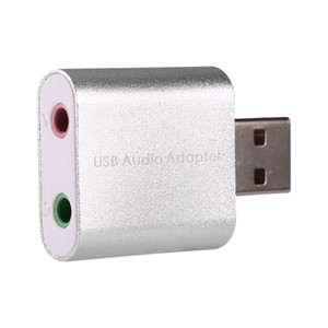 Freeshipping White Color External USB 2.0 7.1 CH Virtual Audio Scheda audio Convertitore adattatore Notebook per Windows XP / Vista / 7/8, Mac, Linux
