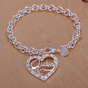 Ücretsiz kargo Toptan 925 Ayar gümüş kaplama Istakoz charm bilezikler LKNSPCH225