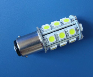 Luci BA15D 1142 lampadina LED barca 24-5050 SMD luminosa eccellente 300LM AC / DC 12 ~ 24V DC12V bianco bianco o caldo della luce della lampada