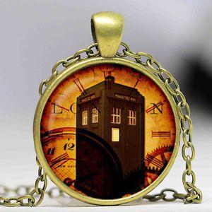 Ücretsiz kargo Doctor Who Kolye, Tardis Kolye, zaman makinesi Takı, Kolye Sanat Hediyeler Onun için