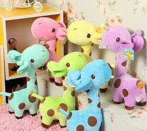 Kid regalo de cumpleaños de los niños de juguete de felpa suave preciosa jirafa Animal Estimado de la muñeca