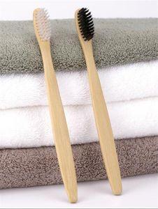 Personalizado Nueva Moda Cepillo de Dientes de Bambú Corona Medio Limpiador de Lengua Dentadura Dental Kit de Viaje Cepillo de Dientes MADE IN CHINA ENVÍO GRATIS