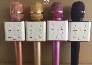 Q7 Microfone de Mão Sem Fio Bluetooth KTV Com Microfone Speaker Altifalante Portátil Karaoke Player 4 cores em saco