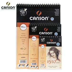 도매 - 프랑스 Canson 아티스트 스케치 북 8K / 16K / 32K SketchBook 40Sheets 코일 노트 드로잉 그림 스케치 아트 용품